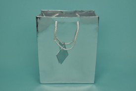 Large Metallic Shopping Bags Gold or Silver #8065