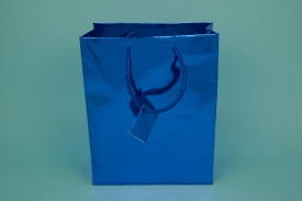 Large Metallic Shopping Bags Mix Colors #8065