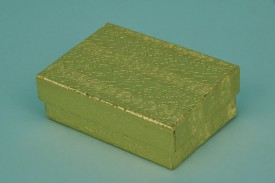 Gold Cotton-Filled Paper Boxes #1832