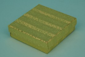 Gold Cotton-Filled Paper Boxes #1833