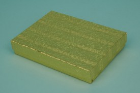 Gold Cotton-Filled Paper Boxes #1853